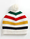 HUDSON'S BAY COMPANY COLLECTION BABIES MULTI STRIPED TOQUE