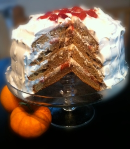 Chai-Spice Layer Cake with Meringue Icing