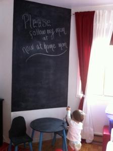 DIY Chalkboard with Rust-Oleum chalkboard paint