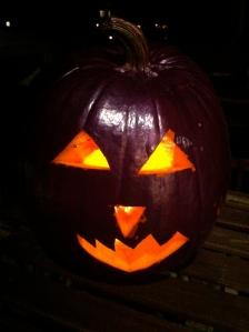 metallic purple Halloween pumpkin