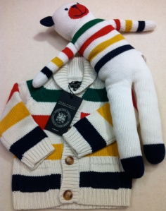 HUDSON'S BAY COMPANY COLLECTION UNISEX BABY 18 24 MONTHS MULTISTRIPED SWEATER
